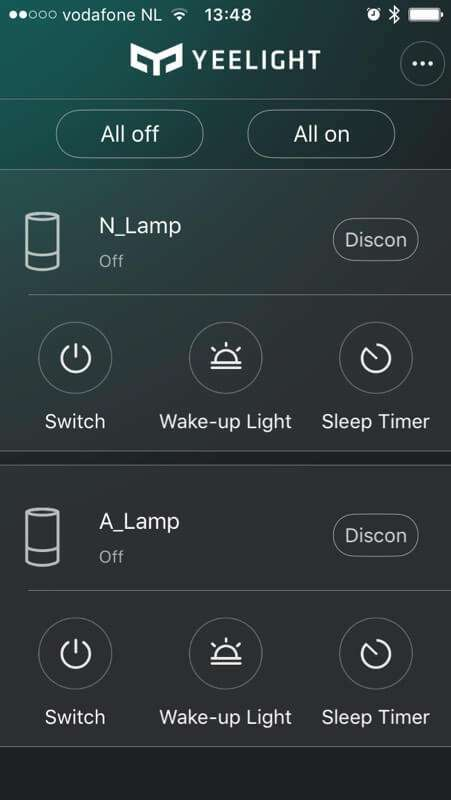 Xiaomi Yeelight приложение