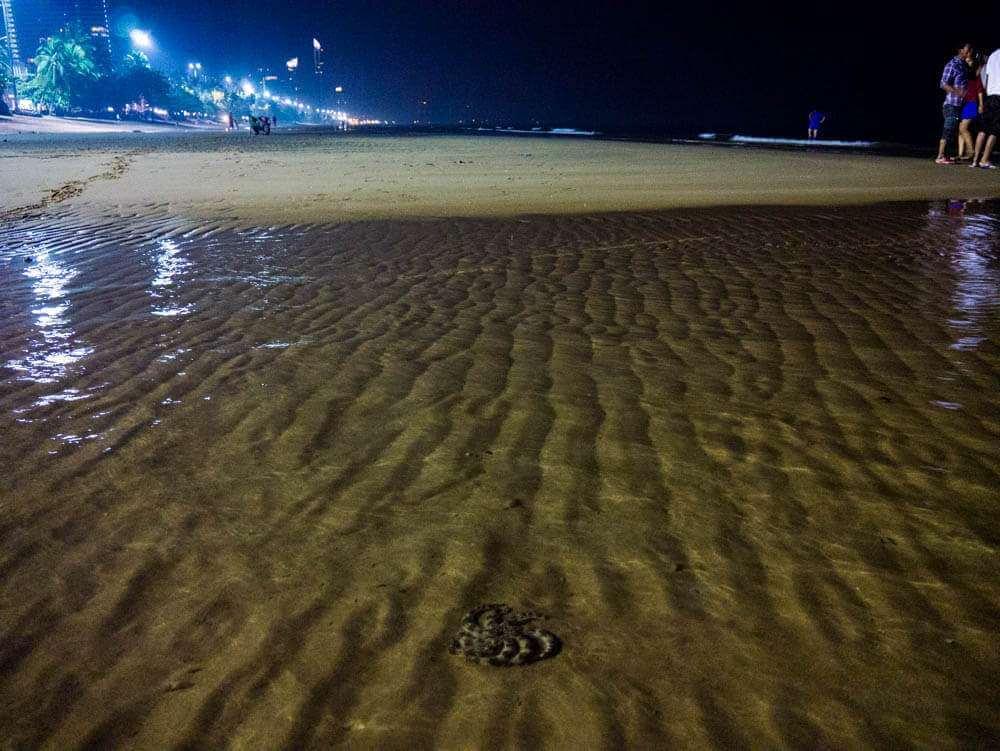 Джомтьен пляж отлив