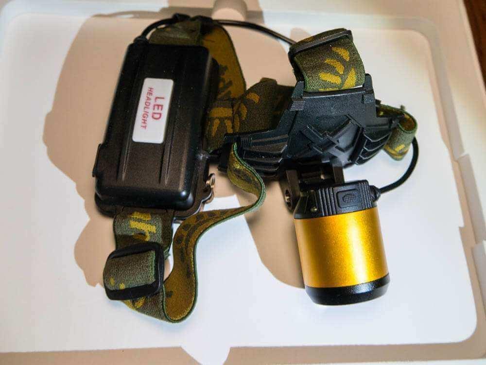 Налобный фонарь XP-E фото