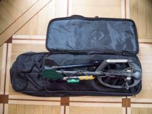 Отсек для катушки металлодетектора в рюкзаке