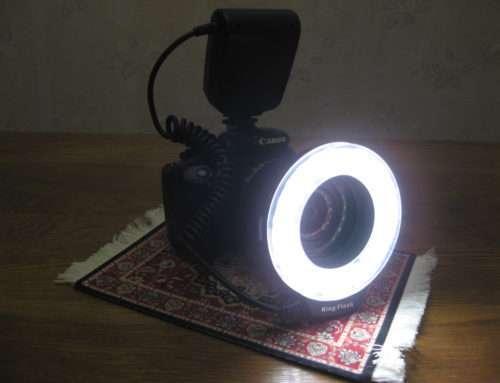 Недорогая кольцевая макровспышка из Китая (Macro LED Ring Flash HD-130/RF-550D)