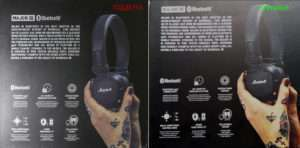 Marshall Major III Bluetooth фото коробки оригинала и подделки