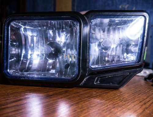 Какие лампы стоят в фаре Shineray X-Trail 250, доработка фары и замена на LED