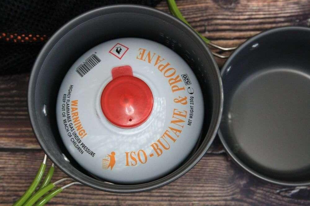 Газовый баллон в посуде фото