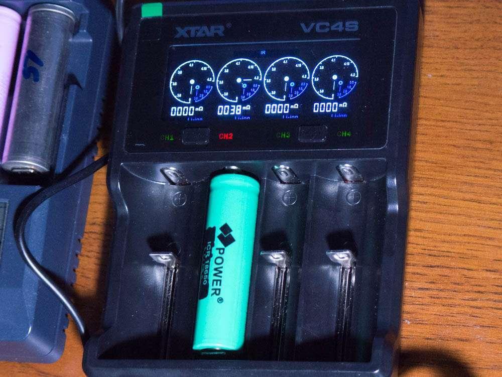 Внутреннее сопротивление Power ICR 18650 4500mah internal resistance