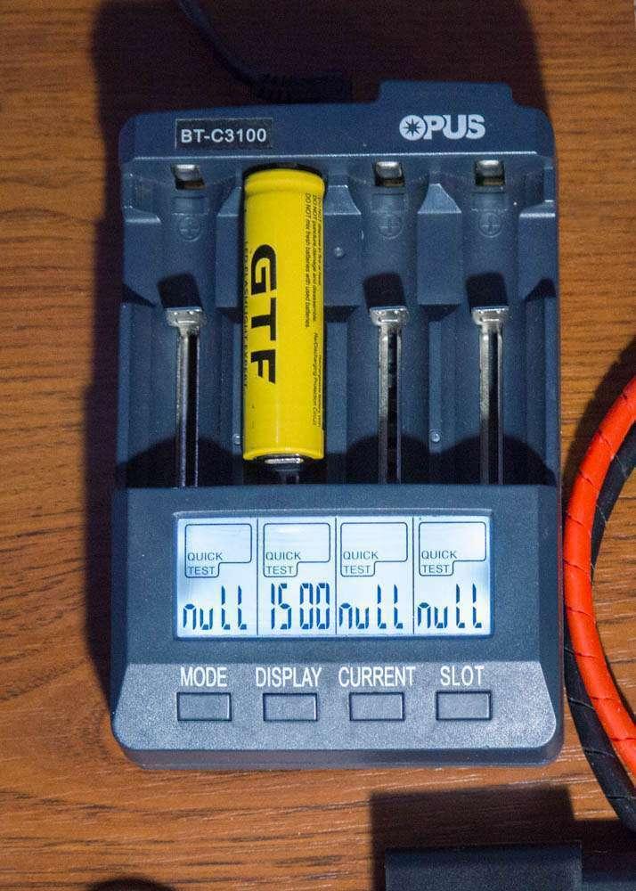 Внутреннее сопротивление GTF TR 18650 9800 mAh internal resistance
