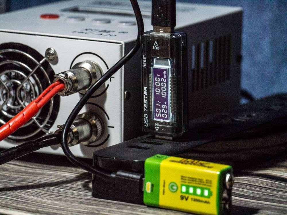 Liter energy battery 9v 6LF22 тест