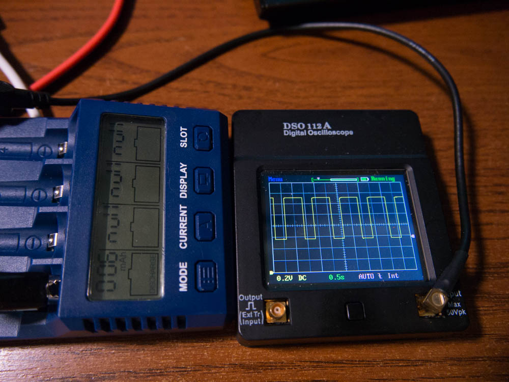 Тестирование SKYRC NC 1500: осциллограф в режиме разрядки
